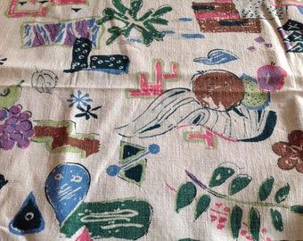Vintage Fabric piece 1960s kitchen