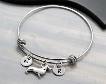 Dachshund Gift - Dachshund Bracelet - Personalized - I Love My Dachshund - Weiner Dog Bracelet - Dachshund Jewelry