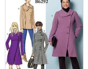 Coat by B6292 Butterick sewing pattern
