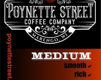 Fresh Roasted Coffee Beans (Medium Blend)