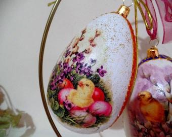 Large Decorative Easter egg , Easter ornaments,Easter gift 14 cm