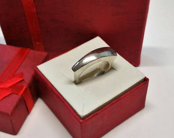 18 mm ring 925 Silver simple design noble SR811
