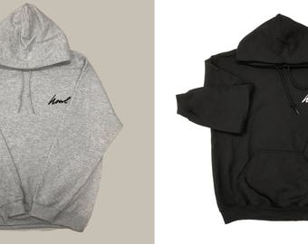 Embroidered Howl Hoodie ~ Athletic Grey or Black