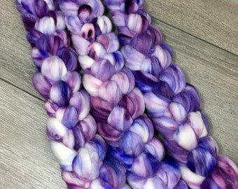 Purple Super Wash Merino Combed Top for Spinning