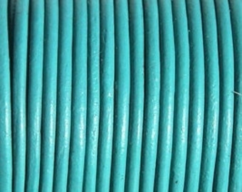 3mm turquoise leather cord, 1 yard / meter, High quality Spanish leather cord, leather working cord, string cord, leather Lacing