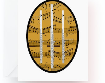 Flute Note Cards, Music Note Cards, Stationery, Note Cards, Blank Cards, Music Teacher Gift, Music