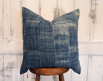 African Mudcloth Pillow Cover, Boho Pillows, Indigo Pillows, Boho Pillows, Mud Cloth Pillows, Boho Decor, Shibori Pillow Cover
