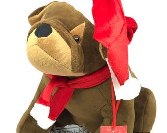 Bulldog Christmas Door Stop