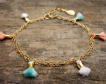 Tassel Bracelet, Tassel Jewelry, Friendship Bracelet, gift for her, boho bracelet, boho jewelry, Tassel, bridesmaid gift, beach jewelry, new