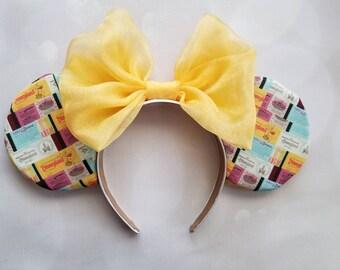 Disneyland ticketbook ears