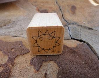 Sun craft Stamp Rubber Wooden Wood Stamp ink Stamp Sun