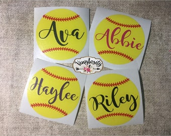 Softball Decal | Softball Monogram | Helmet Decal | Softball Helmet Decal | Car Decal | Yeti Decal | Laptop Decal | Softball Sticker
