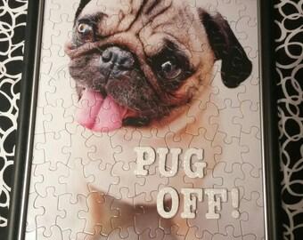 Pug Puzzle Art