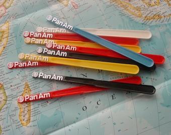 Stir Sticks,PAA,Pan Am,Swizzel Sticks,Drink Stirrer,