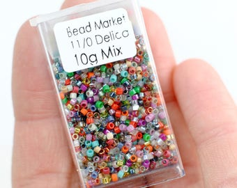 11/0 Delica Bead Mix / 10 grams / Miyuki Japanese Seed Beads / Bead Soup