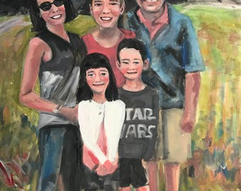 In Progress-Jessica's Beautiful Extended Family  18 x 24