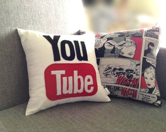 You Tube icon decorative pillow / cushion case