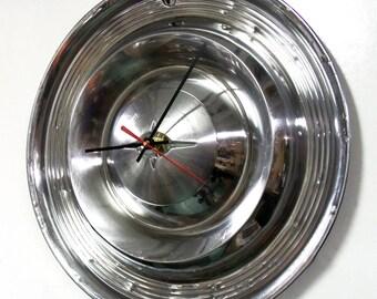1957 Oldsmobile Hubcap Clock - 1950's Classic Car Wall Clock - Olds Garage