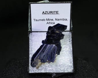 Deep Blue Azurite Specimen in Perky Box
