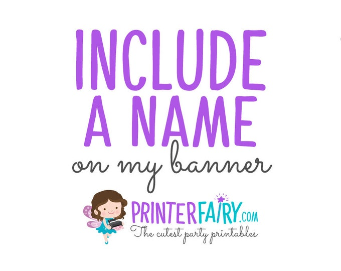 Include a name in your banner. To be purchased with any banner of the shop