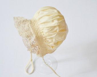 Vintage Pixie bonnet - photo props