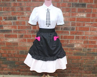 Retro Waitress/Car Hop 50s Costume, Size Adult Medium