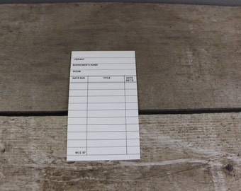 50 Library cards - library book cards - white library cards - book sign out cards - check out cards - book inserts - pocket cards