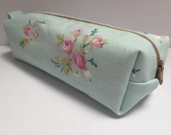 handmade cotton fabric pencil case/makeup bag/storage bag  Ask a question
