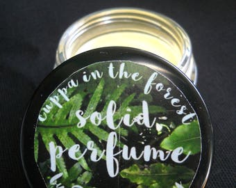cuppa in the forest solid perfume