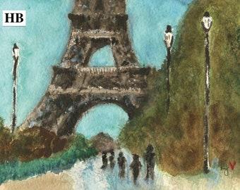 Eiffel Tower Notecard