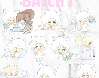 Batch 1 - Teeny and Bop 01 (Kawaii Planner Stickers)