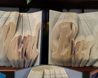 Folded Book Art - Custom Name