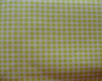 gingham fabric lime green and white 160 cm wide 100% cotton