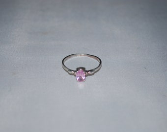 Sterling silver Amethyst ring size 5.75