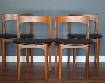 Set Of 4 Vintage U0027Nathanu0027 Danish Style Teak Chairs. Delivery. Modern /