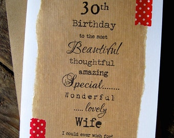 30th 40th 50th birthday card for husband boyfriend wife larger 30th 40th 50th birthday card wife beautiful thoughtful amazing special partner bookmarktalkfo Image collections