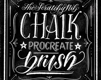 Procreate Chalk Lettering Custom Brush