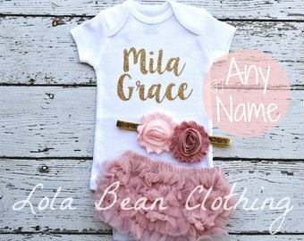 Baby Girl Coming Home Outfit \\ Baby Girl \\ Newborn Girl Coming Home Outfit \\ Baby Girl Clothes \\ Baby Shower Gift \\ Newborn Girl Outfit