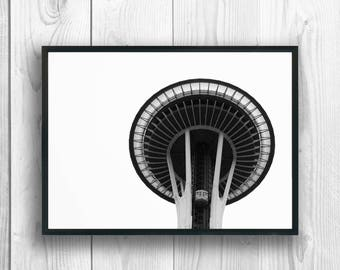 Space Needle Photography Print, Wall Art, Seattle