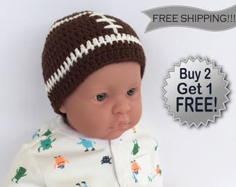 crochet baby hat, crochet football hat, crochet newborn hat, crochet beanies, knitted baby hat, knitted baby hat, crochet hat, baby hat