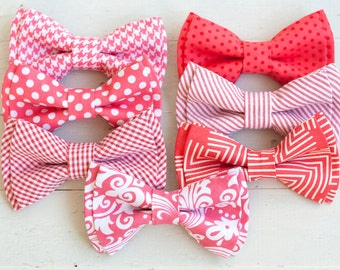 Beau- boy's coral collection double stacked bow ties- (clip or strap selection)