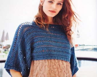 Color selection: Shoulder warmer made of merino/Alpaca hand Knit
