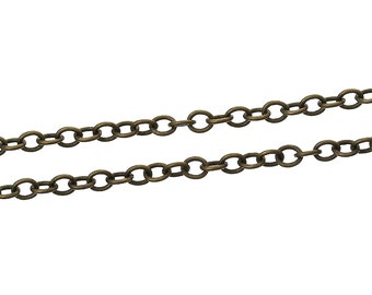 BULK - Small Antique Brass Cable Chain - 32 feet - #CH37577