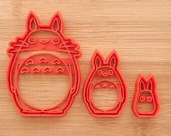O Totoro, Chu Totoro, Chibi Totoro.   Cookie cutters. totoro cookie cutter Totoro.