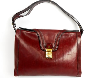 Vintage  ASSIMA Bag, Handbag, Shoulder Bag, Genuine Leather Handbag