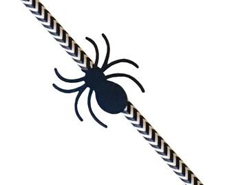 Spider Halloween straws