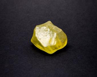 Libyan Desert Glass Tektite - Transparent Yellow, 22g, 3.7cm on Longest Edge