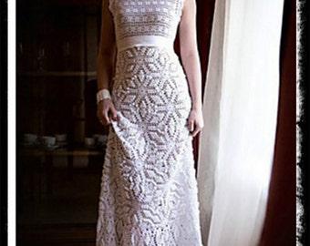 Wedding Gown, Frozen snowflake and diamond skirt.