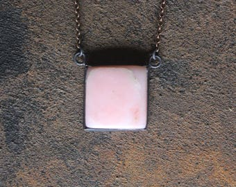 Peruvian Pink Opal Copper Necklace