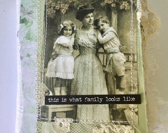 Vintage mini album for mothers day